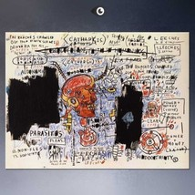 "Jean-Michel Basquiat ""Leeches"" HD print on canvas large wall picture 36x24"" - $29.69"