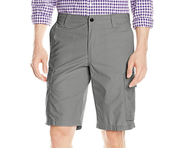 $50 Dockers Men's Cargo Classic Fit Flat-Front Short, Gray, Size 32. - $24.74