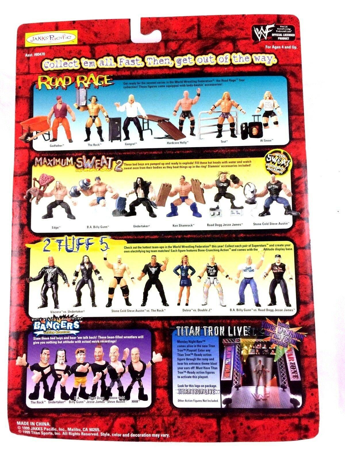Test WWF WWE Jakks Action Figure Road Rage 1999 Sealed Summer Slam Guard Rail