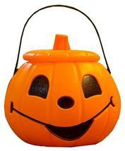 Blancho Bedding Halloween Mini Pumpkin Candy Cans Buckets Trick or Treat... - $17.95
