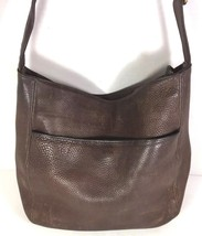 Coach Vintage Brown Leather Shoulder Bag-DISTRESSED-WELL WORN - $27.15