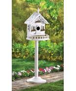 White Wood Victorian Birdhouse - $16.00