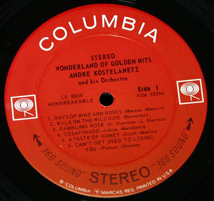 """Andre Kostelanetz """"Woderland of Golden Hits""""   LP"""