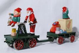 "Bachmann Big Haulers 96240 ""G"" Scale Christmas Hand Car & Trailer- Santa & Elves - $74.21"