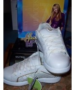 Hannah Montana Girls Athletic Shoes Size 3 NEW White Embroidered Glitter  - $15.00