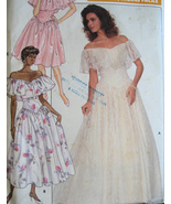 Butterick 6000 Vintage 80sUnused Womans Wedding Dress 6 to 1 - $9.95