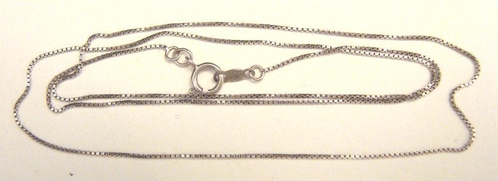 STERLING BOX LINK CHAIN