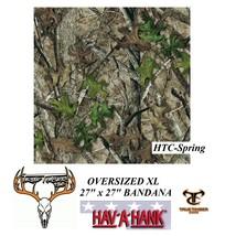 XL BIG OVERSIZED Hardwood Tree Wood Leaf CAMO BANDANNA Bandana Head Wrap... - $11.99