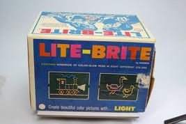 Vintage 1973 Hasbro 5455 Lite-Brite Original Box Peanuts Sheets+Glow Pegs Comple - $59.39