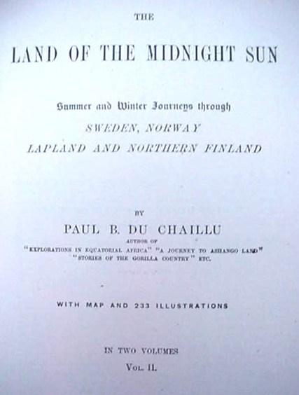 The Land Of The Midnight Sun Du Chaillu 1881 Book Set