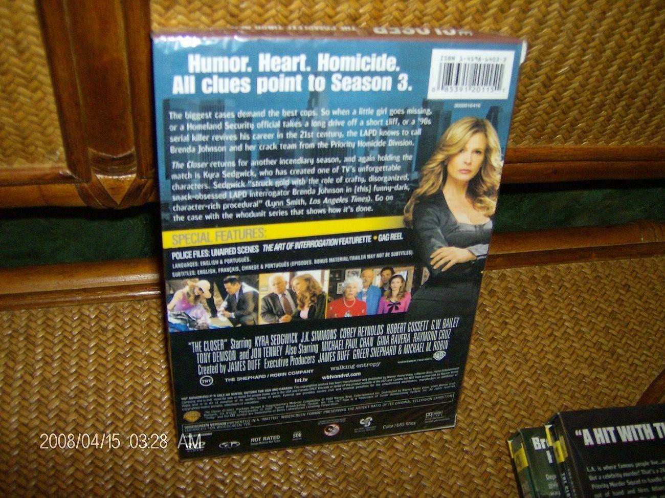THE CLOSER-COMPLETE-STELLAR  3RD 2007 SEASON FOUR DVD  SET