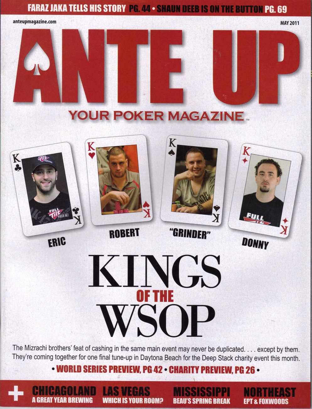 Kings of the WSOP @ ANTE UP Poker Mag May 2011