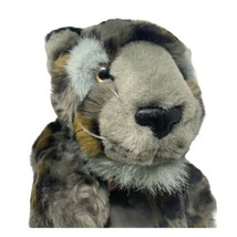 Wildlife Artists Plush Grey Spotted Leopard Conservation Collection Soft... - $14.99