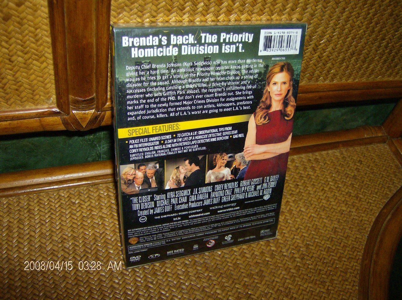THE CLOSER-COMPLETE-STELLAR  4TH  2008 SEASON FOUR DVD  SET IN FACTORY CASE