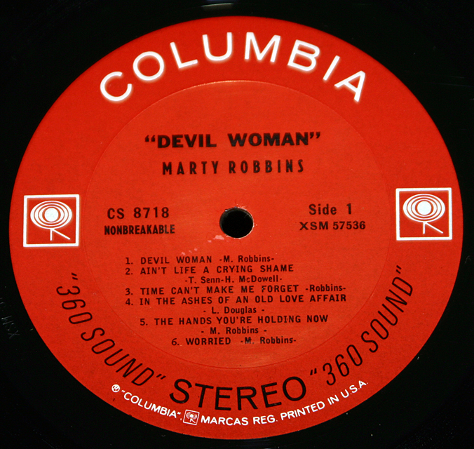 "Marty Robbins ""Devil Woman""   LP"