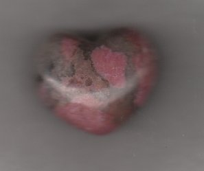 RHODONITE CARVED PUFFED HEART