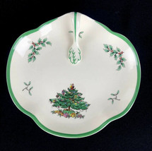 "Spode Christmas Tree Oval Handled Serving Bowl Dish Tray S3324 J England 8.25""  - $20.53"