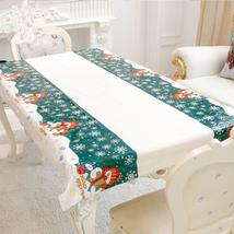 Christmas Rectangular Tablecloth Kitchen Dining Table Covers Christmas - $1.47+