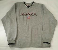 Chaps Ralph Lauren V-Neck Embroidered Sweatshirt, Size XL - $36.99