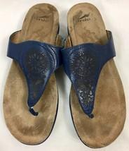 Dansko Bleu Marine Cuir T-Sangle Tongs, Femmes US Size 8.5 ( Ue 39) - $24.91