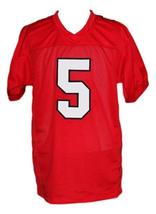 Finn Hudson #5 Glee TV Cory Monteith New Men Football Jersey Red Any Size image 5