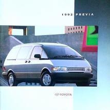 1992 Toyota PREVIA sales brochure catalog US 92 LE All-Trac - $9.00