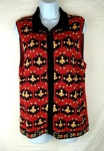 Eagles Eye Re & Black Zip up Sleeveless Sweater Vest - Size Large - $12.16