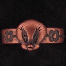 RING TWEETY BIRD LOONEY TUNES WARNER BROS COPPER FLOWER BAND 3D WB STORE... - $15.83