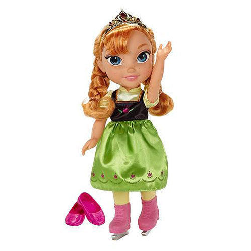 Image 1 of Ice Skating Princess Anna Frozen Toddler Doll Disney, 3+ Years