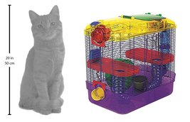 Super Pet Critter Trail Two Habitat Hamster Gerbil Cage Gerbils Mice Pla... - $52.20