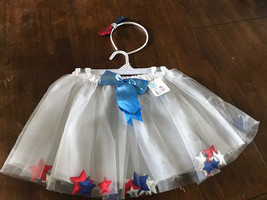 Girls Red, White, And Blue Skirt With Headband - $9.90