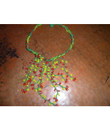Handmade Seed Bead African Necklace - $5.00