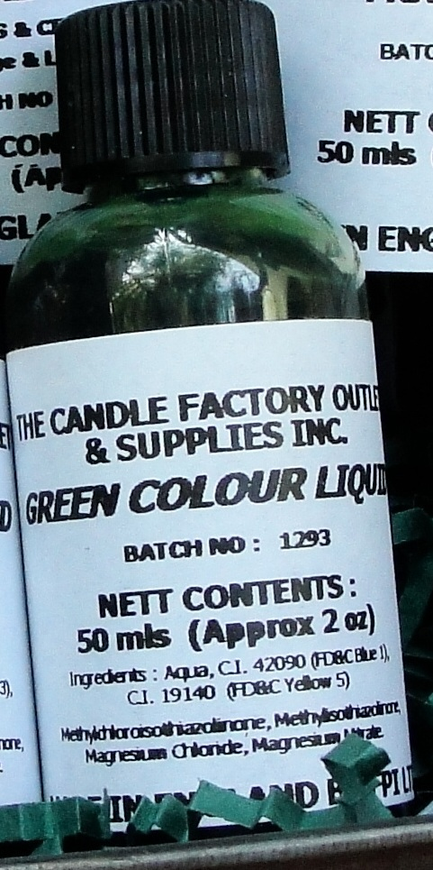 GREEN Liquid Candle Dye 50ml (2oz)