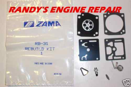 new OEM Rb 31 Genuine Zama Carburetor Kit Rb31 rb-31