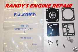 new OEM Rb 31 Genuine Zama Carburetor Kit Rb31 rb-31 - $14.99