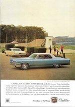 1966 Cadillac Sedan de Ville saucer shooting print ad - $10.00