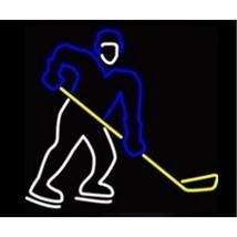 """Neon Hockey Player Sculpture Bar Sign Wall Decor  10"""" x 13"""" - $89.99"""