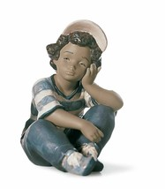 Lladro Porcelain Retired 01012209 Long Day New in Box 2209 Boy - $439.45