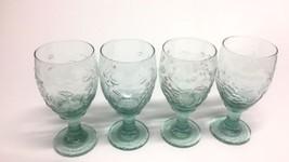 Libbey Wine Glasses/Goblets Rock Sharpe Orchard Fruit Green - $48.49