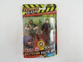 The Corps Elite vs The Curse Troll vs Rain Action Figure Set NIB Lanyard Toys - $14.84
