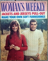 Woman's Weekly Magazine, January 29 1972 Jackets Knitting & Fiction - $8.50