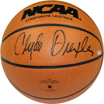 Clyde Drexler signed Wilson NCAA Indoor/Outdoor Basketball- Steiner Holo... - £98.05 GBP