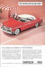 1955 Chrysler Windsor Deluxe Nassau 2-Door car print ad - $10.00