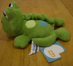 Gymboree TERRY CLOTH FROG W/ HANDLE Plush Toy NEW - $15.35