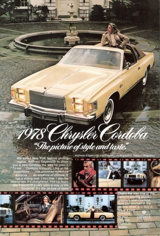 1978 Chrysler Cordoba by Anthony Edgeworth print ad