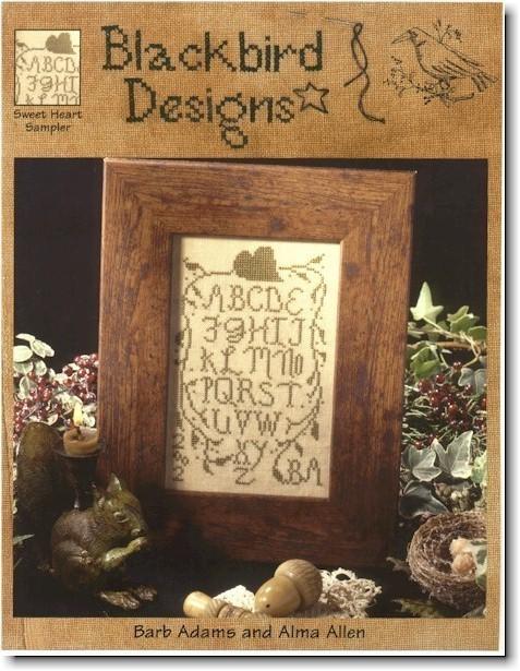 Sweet Heart Sampler Cross Stitch Chart Blackbird Designs Samplers