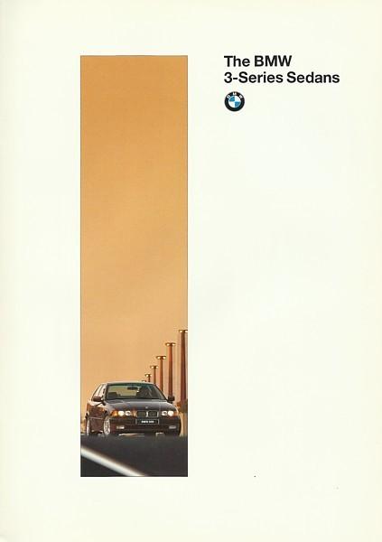 1996 BMW 3-SERIES Sedan brochure catalog US 96 318i 328i