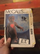 ET E.T. EXTRA TERRESTRIAL COSTUME SEWING Manual MCCALL'S 8311 CHILD LARGE - $14.85