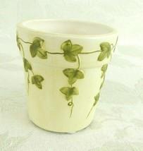 Yankee Candle Co. Votive Holder Ivory & Green Ivy Vines - $15.83