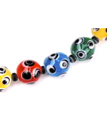 Multicolor Glass Bead Bracelet with